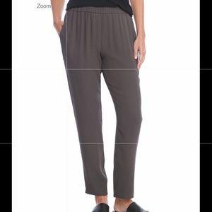 Eileen Fisher Silk Georgette Slouchy Ankle Pants
